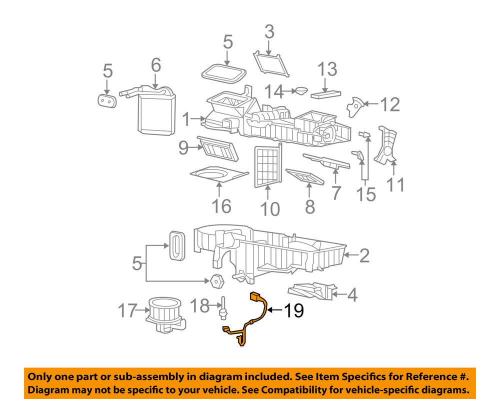hight resolution of gm oem evaporator heater wiring harness 89019303 ebaydetails about gm oem evaporator heater wiring harness 89019303