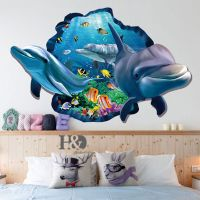 3D Ocean Dolphin Removable Vinyl Decal Wall Sticker Art ...