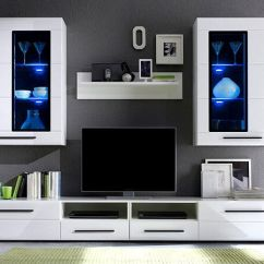Living Room Sets With Tv Curtain Designs For Ideas Modern Argus Furniture Set White Gloss Led Wall Unit Cabinet Ebay
