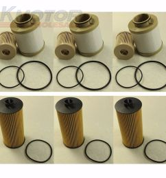 details about 3 of each turbo diesel fuel oil filter replacement fd4616 fl2016 for ford 6 0l [ 1000 x 1000 Pixel ]