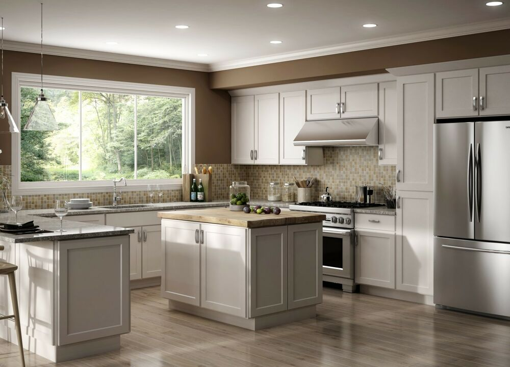 10x10 kitchen cabinets candles all wood rta luxor white shaker classic with details about finger grip