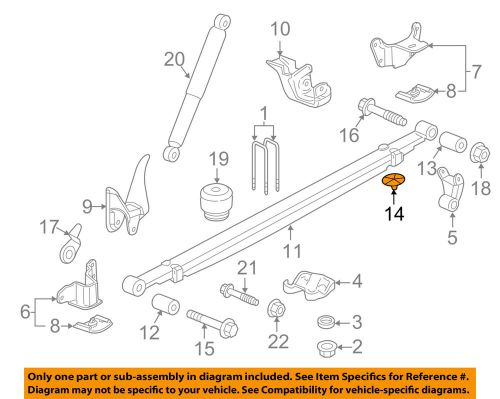 small resolution of details about gm oem rear suspension leaf spring insert 20870046