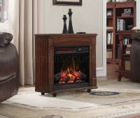 Cherry Wood Electric Fireplace Mantel Infrared Heater ...