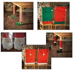 Table And Chair Covers Ebay Rockin Roller Desk Elf Or Santa Hat & Leg Christmas Decoration Novelty New |