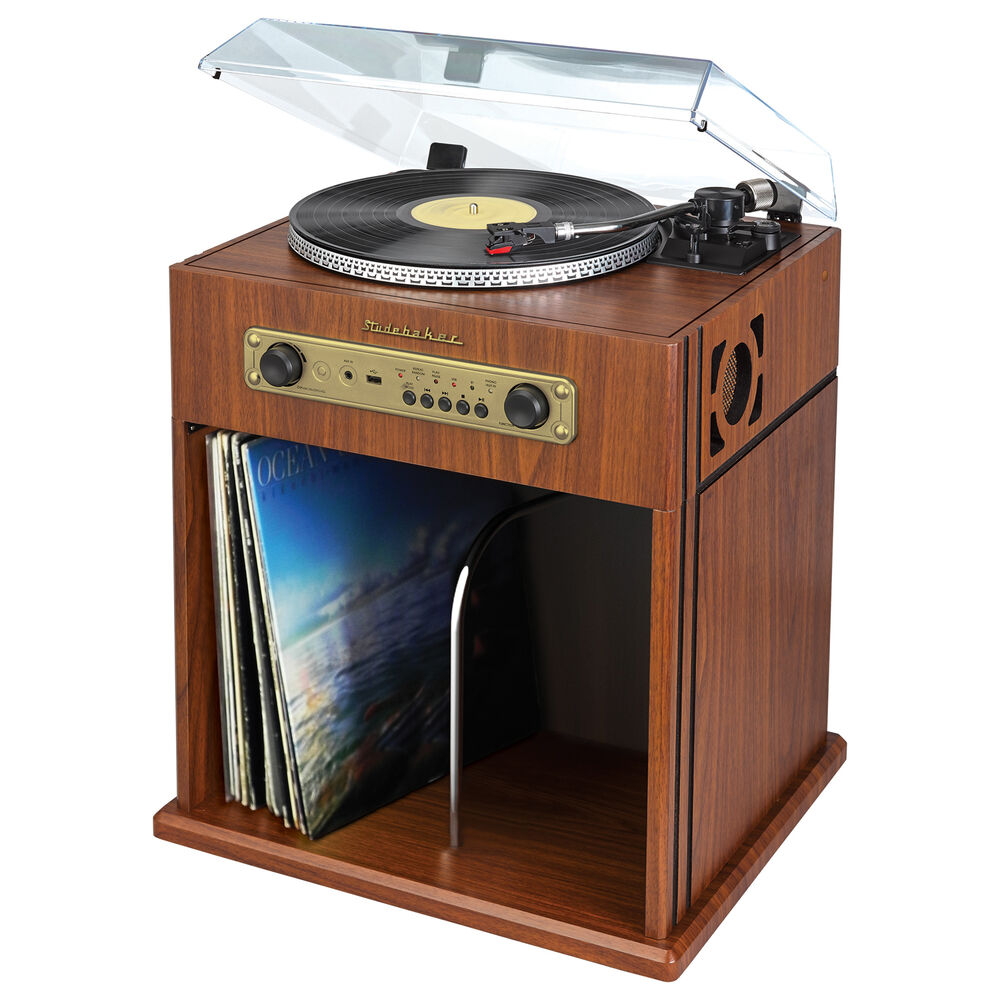 Studebaker Stereo Turntable Bluetooth Receiver  Record