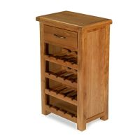 Emsworth Oak Small Wine Rack Unit Dining Room Solid Wood ...