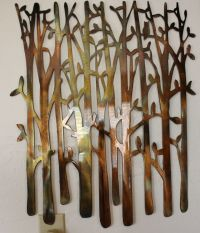 Birch Tree Metal Wall Art by HGMW | eBay