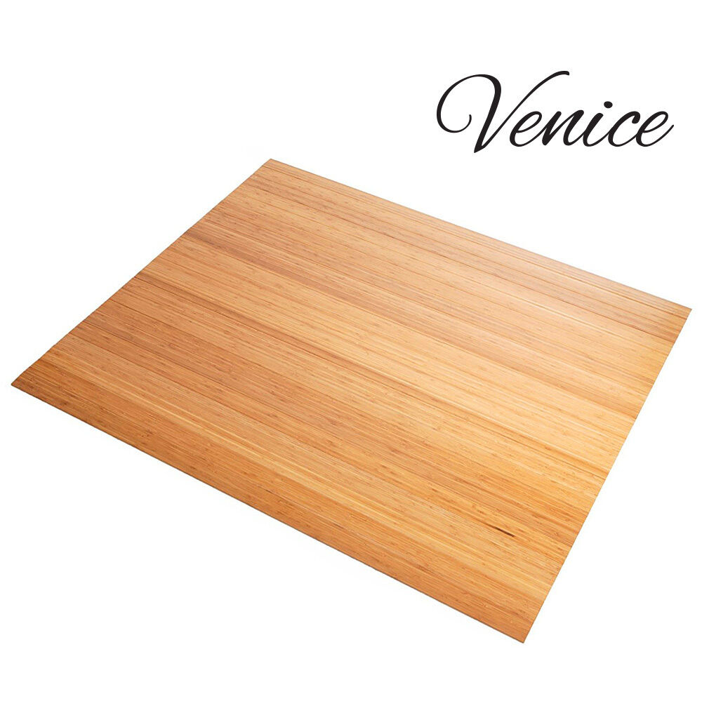 Venice Natural Bamboo Floor Rollup Chairmat Floor Mat 42