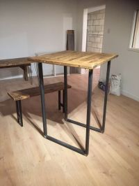 Breakfast Bar Legs/Industrial Chic / Rustic / Bar Table ...