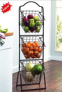 Organizer Kitchen Basket Market Rack Holder Fruit ...
