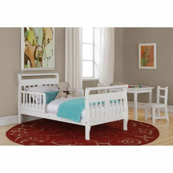 Toddler Bed With Rails Sleigh Crib Mattress Boys Girls