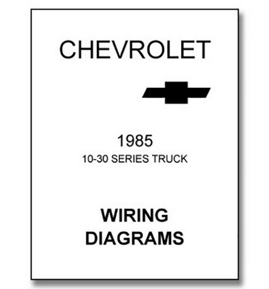 hight resolution of 1985 chevy truck wiring diagram