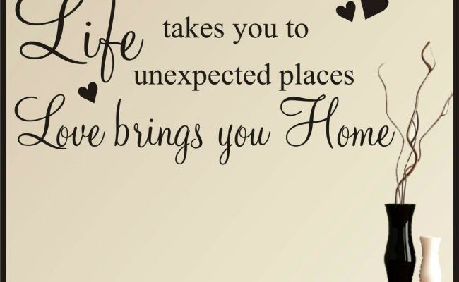 Wall Art Stickers Quotes Life Love Family Home Words