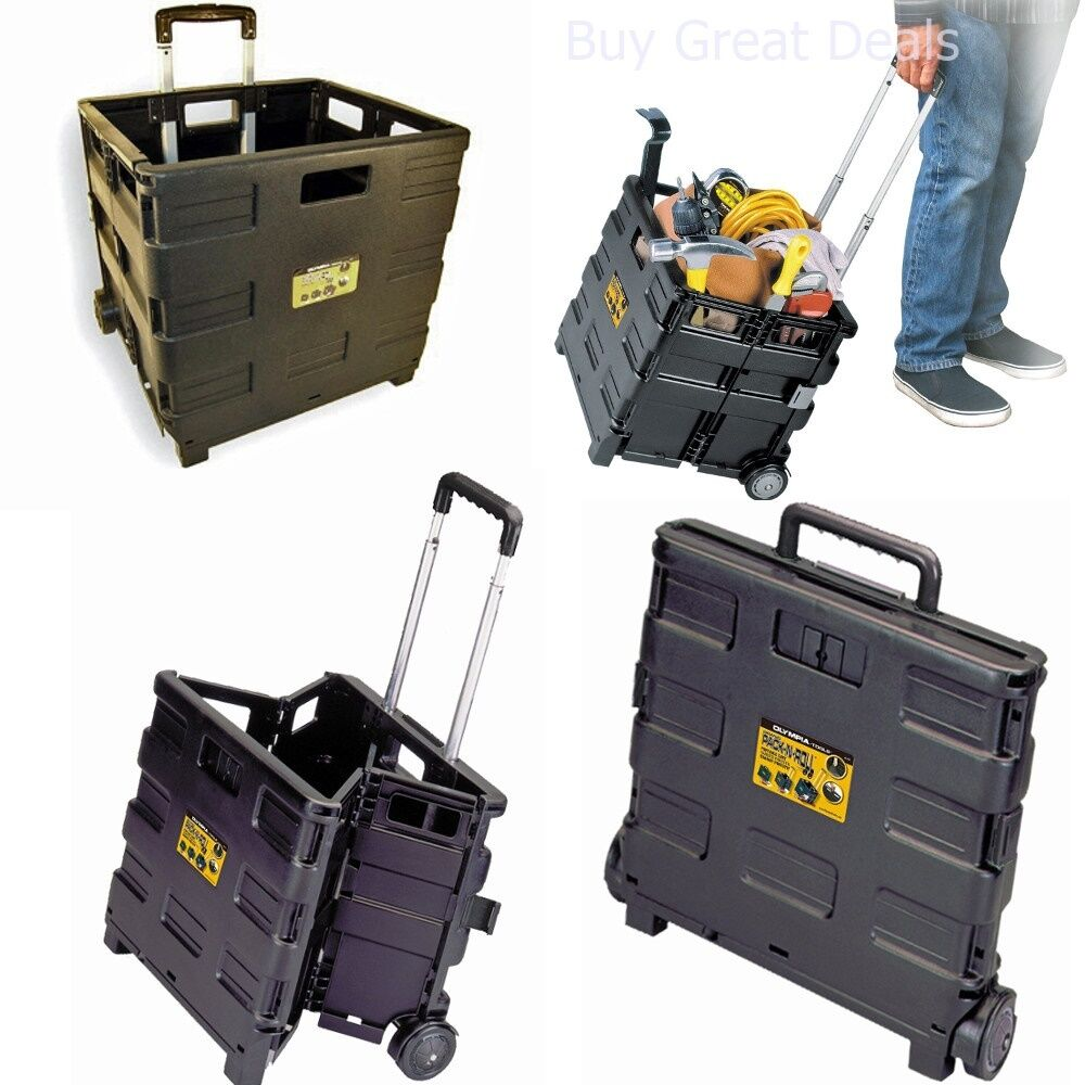 Collapsible Folding Rolling Case Wheeled Crate Carrier