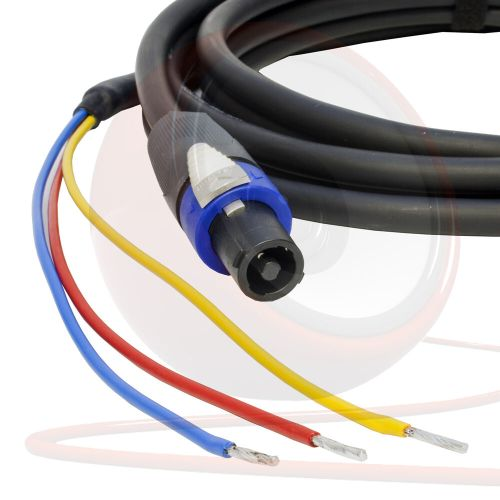 small resolution of rel 3 wire sub speaker cable neutrik speakon subwoofer lead ebay speakon cable wiring