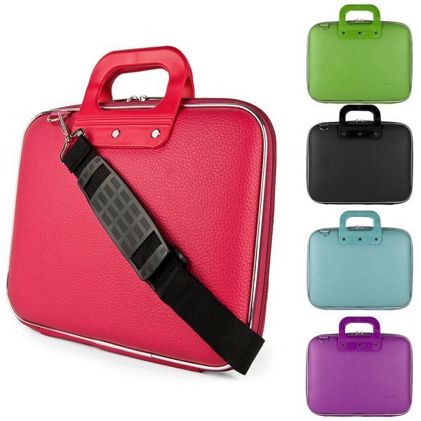 PU Leather 156quot Laptop Shoulder Bag Carrying Case For