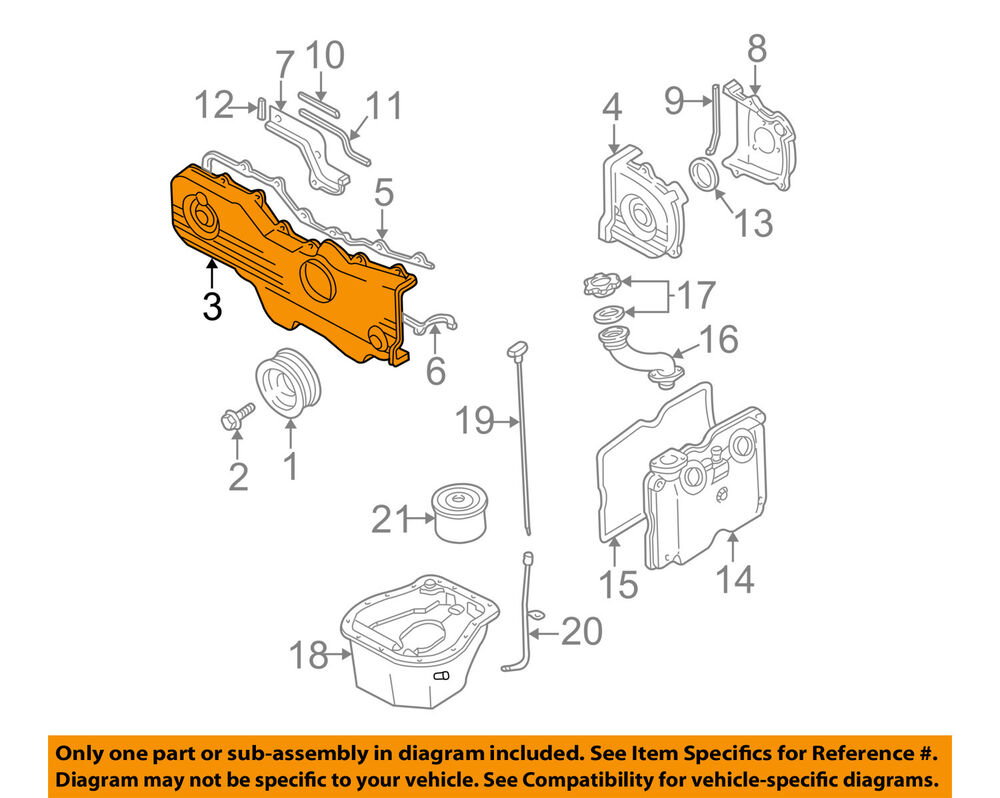 hight resolution of details about subaru oem 00 05 legacy engine timing cover right 13570aa12b