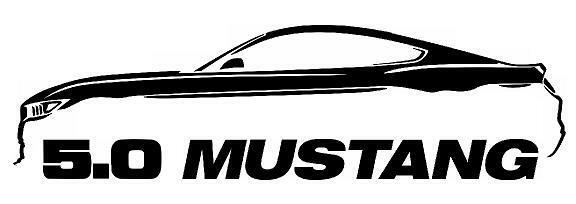 2005-9 Ford Mustang Coyote 5.0 GT Outline Silhouette Art