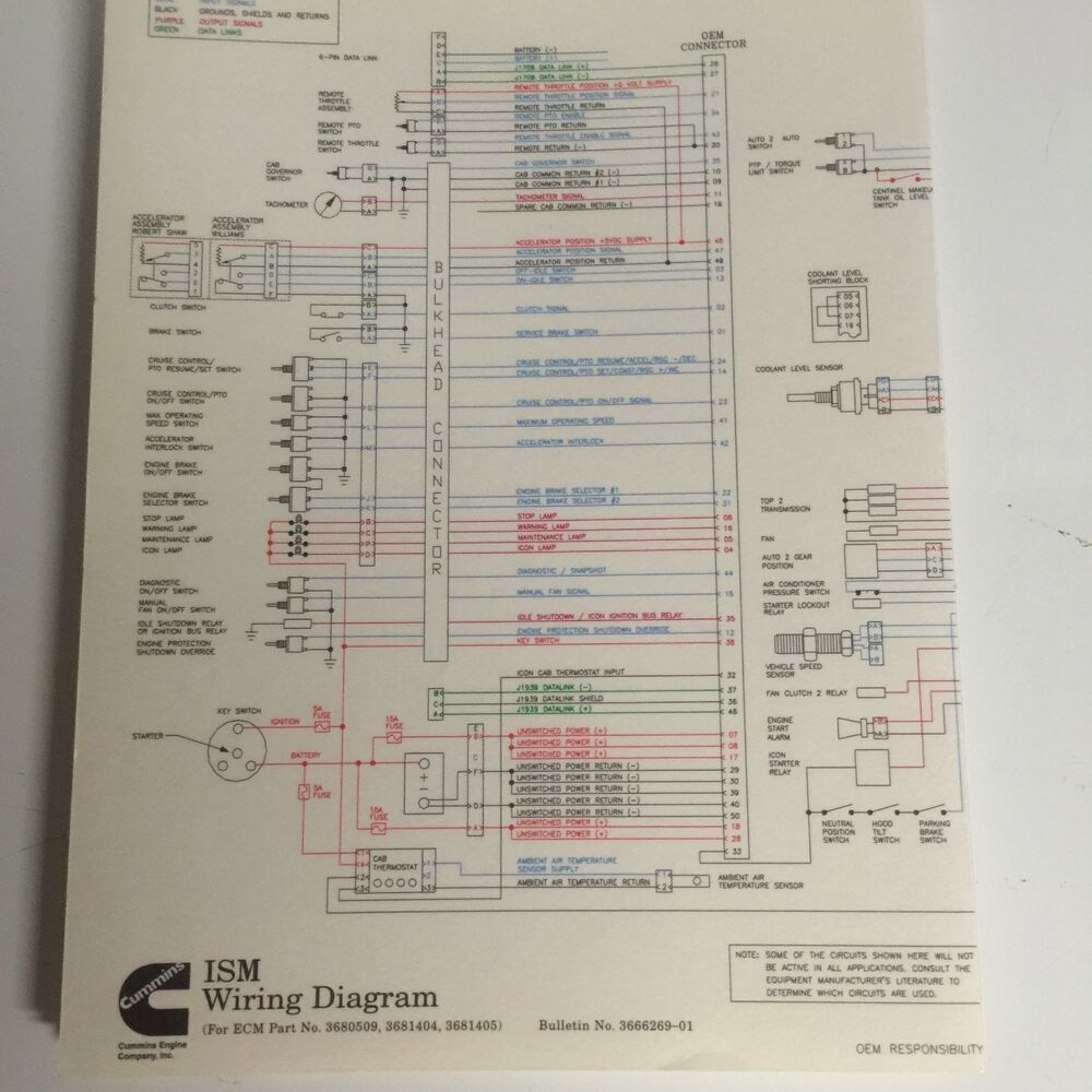 medium resolution of cummins ism wire diagram 3666269 ebay isb wiring diagram