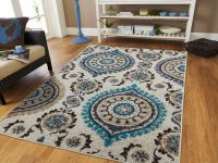 Luxury Blue Gray Rug Living Room Rugs Carpets 8x10 Blue ...