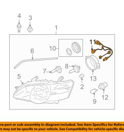 details about subaru oem 05 07 outback headlamp front lamps wire harness 84981ag070 [ 1000 x 798 Pixel ]