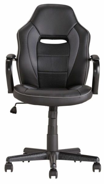 mid back office chair black Mid Back Office Gaming Chair - Black | eBay