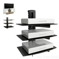 Floating Shelf Wall Mount TV Accessory Shelves DVD Cable ...