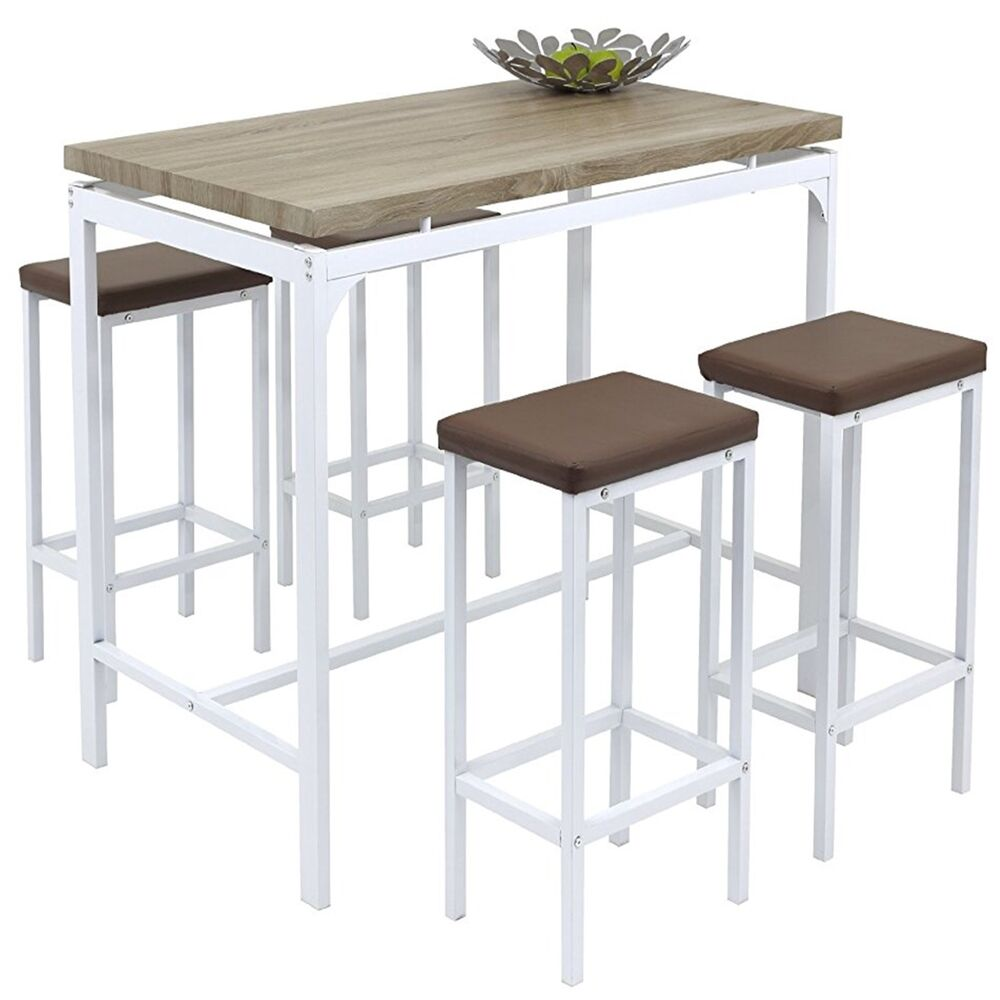 Angie Counter Bar Set 5 Pc Breakfast Table And Chairs