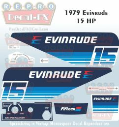 details about 1979 evinrude 15 hp outboard reproduction 9 piece marine vinyl decals 15904 05 [ 1000 x 1000 Pixel ]