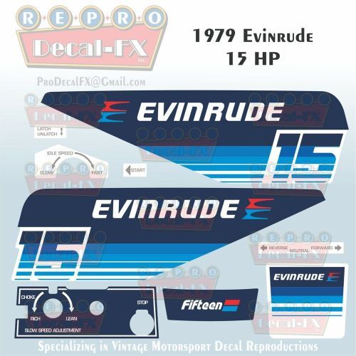 small resolution of details about 1979 evinrude 15 hp outboard reproduction 9 piece marine vinyl decals 15904 05