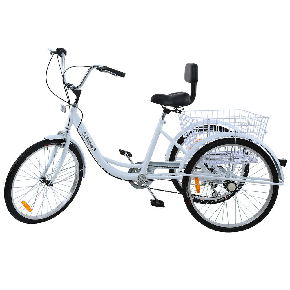 Black 3-Wheel 6-Speed Adult 24