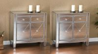 Mirrored Storage Cabinet Drawers Dresser Chest Table ...