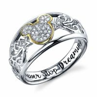 STERLING SILVER REAL DIAMOND DISNEY MICKEY MOUSE RING ...