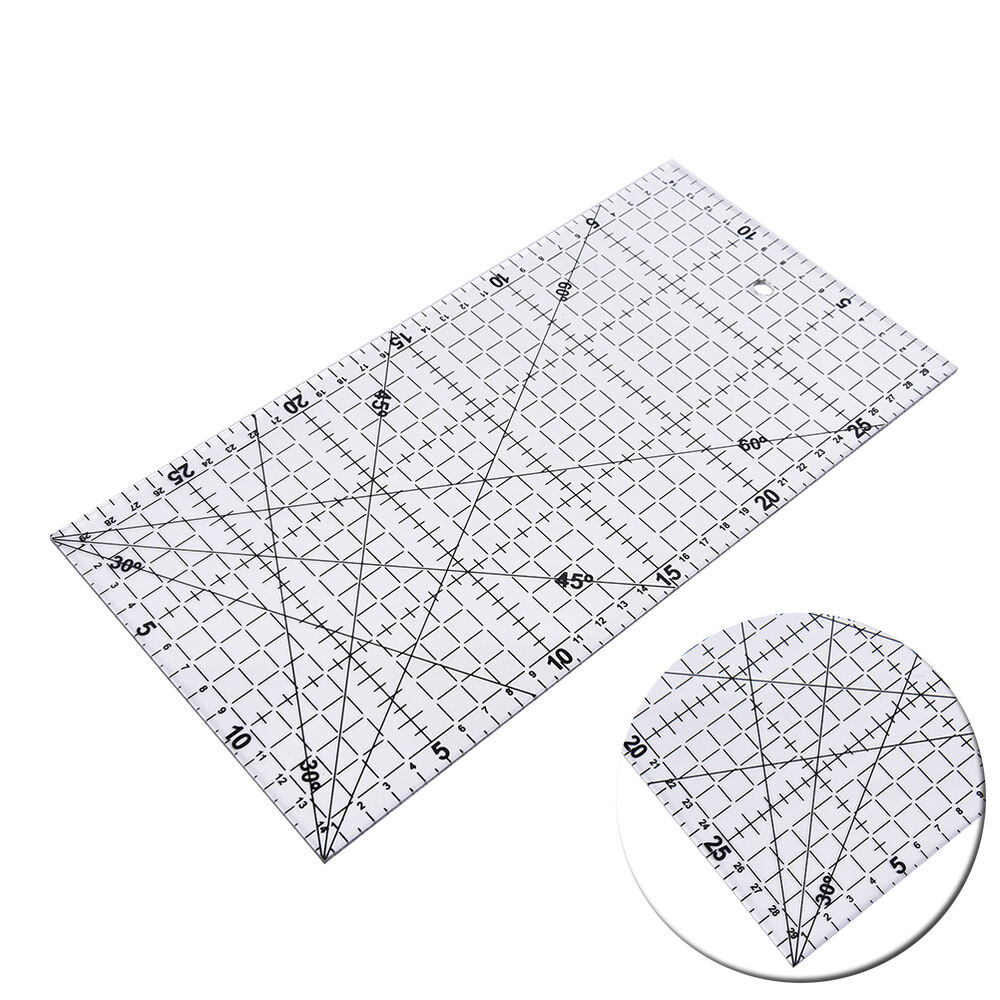 30x15cm Quilting Sewing Patchwork Foot Aligned Ruler Grid