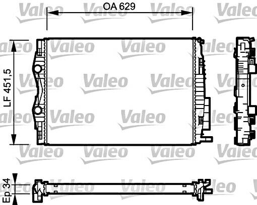 Engine Cooling Radiator VALEO Fits RENAULT Grand Megane