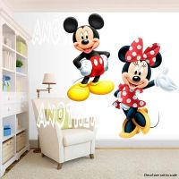 Mickey Mouse and Minnie Mouse Room Decor - Wall Decal ...