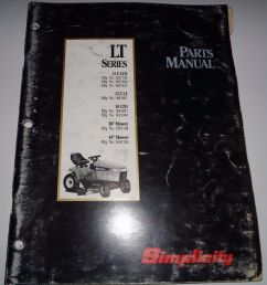 details about simplicity lt series 12 5lth 12 5lt 16lth lawn tractor parts catalog manual book [ 936 x 1000 Pixel ]