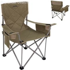 Folding Chair Portable Wooden Bankers With Arms Oversized Camping Outdoor Patio Fishing Heavy Duty Seat