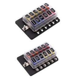 details about 2x 12 way blade fuse box led indicator for blown fuse fuse block automotive [ 1000 x 1000 Pixel ]