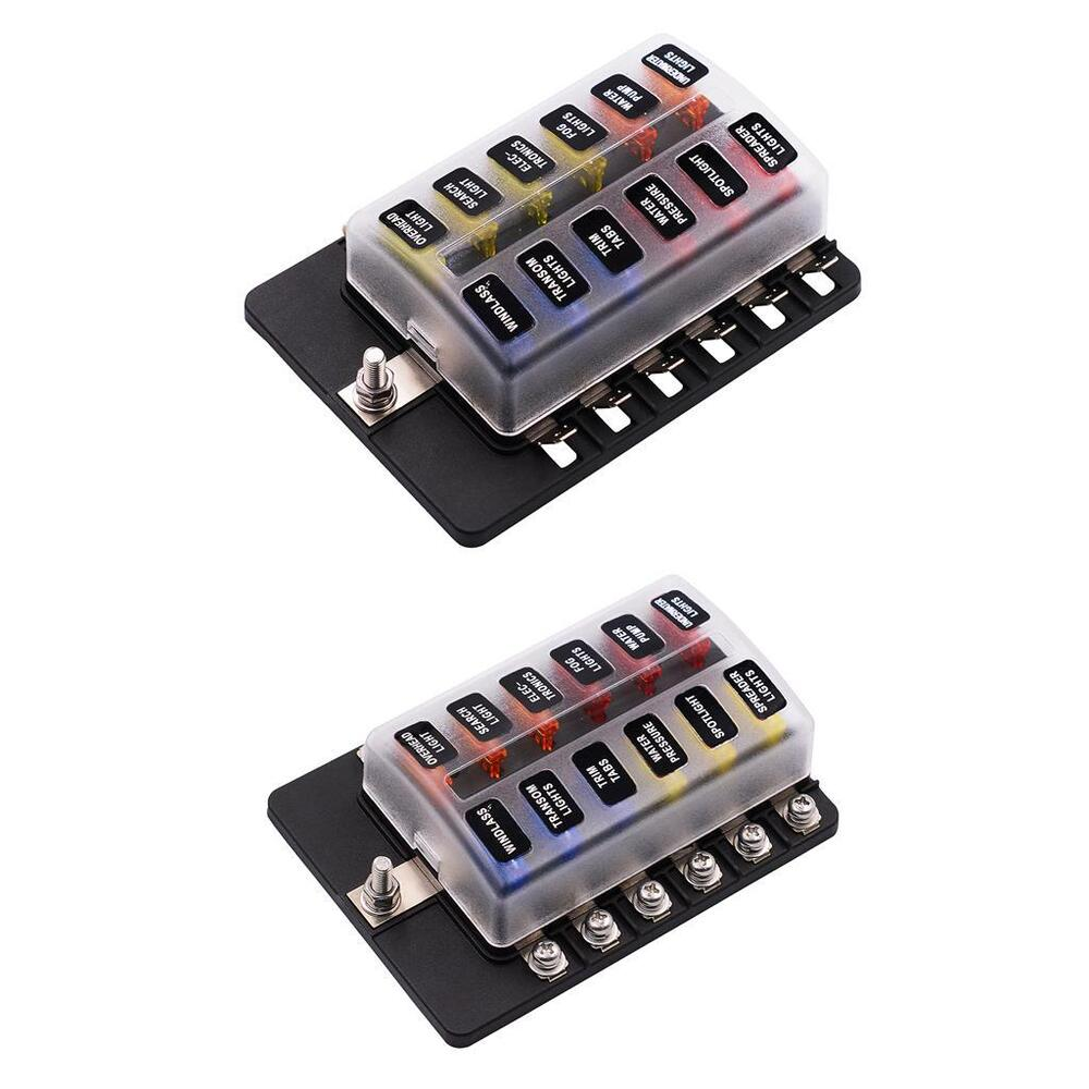hight resolution of details about 2x 12 way blade fuse box led indicator for blown fuse fuse block automotive