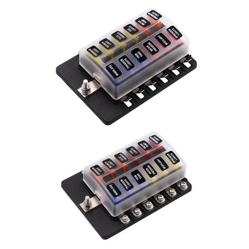small resolution of details about 2x 12 way blade fuse box led indicator for blown fuse fuse block automotive