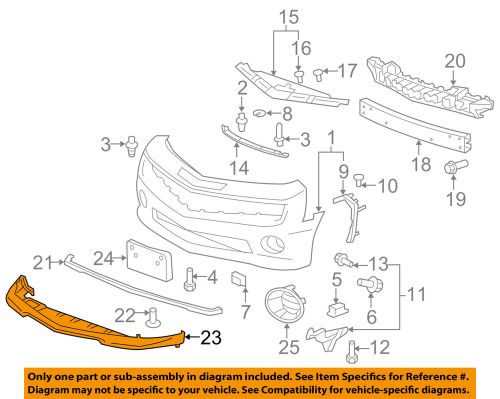 small resolution of details about chevrolet gm oem 11 13 camaro front bumper grille grill front spoiler 22859694