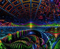 Ultraviolet Neon blacklight glow Trippy Psychedelic art