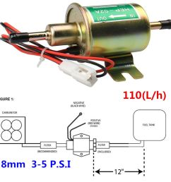 details about 12v electric fuel pump gas diesel inline low pressure solid petrol pumps hep 02a [ 1000 x 1000 Pixel ]