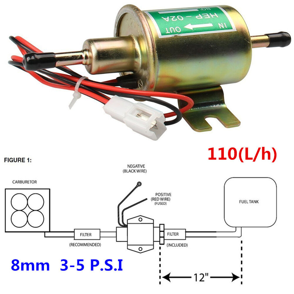 hight resolution of details about 12v electric fuel pump gas diesel inline low pressure solid petrol pumps hep 02a