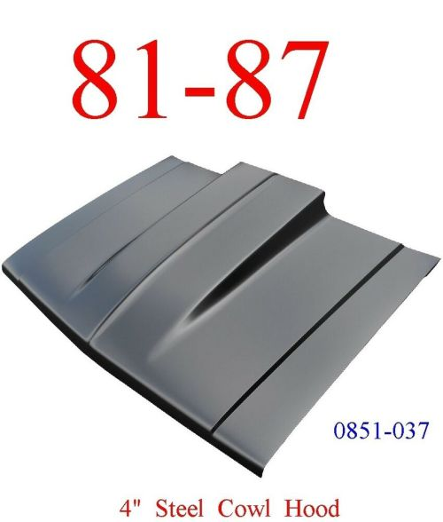 small resolution of 81 87 cowl hood 4 chevy truck steel bolt on with latch keypart 0851 037 ebay