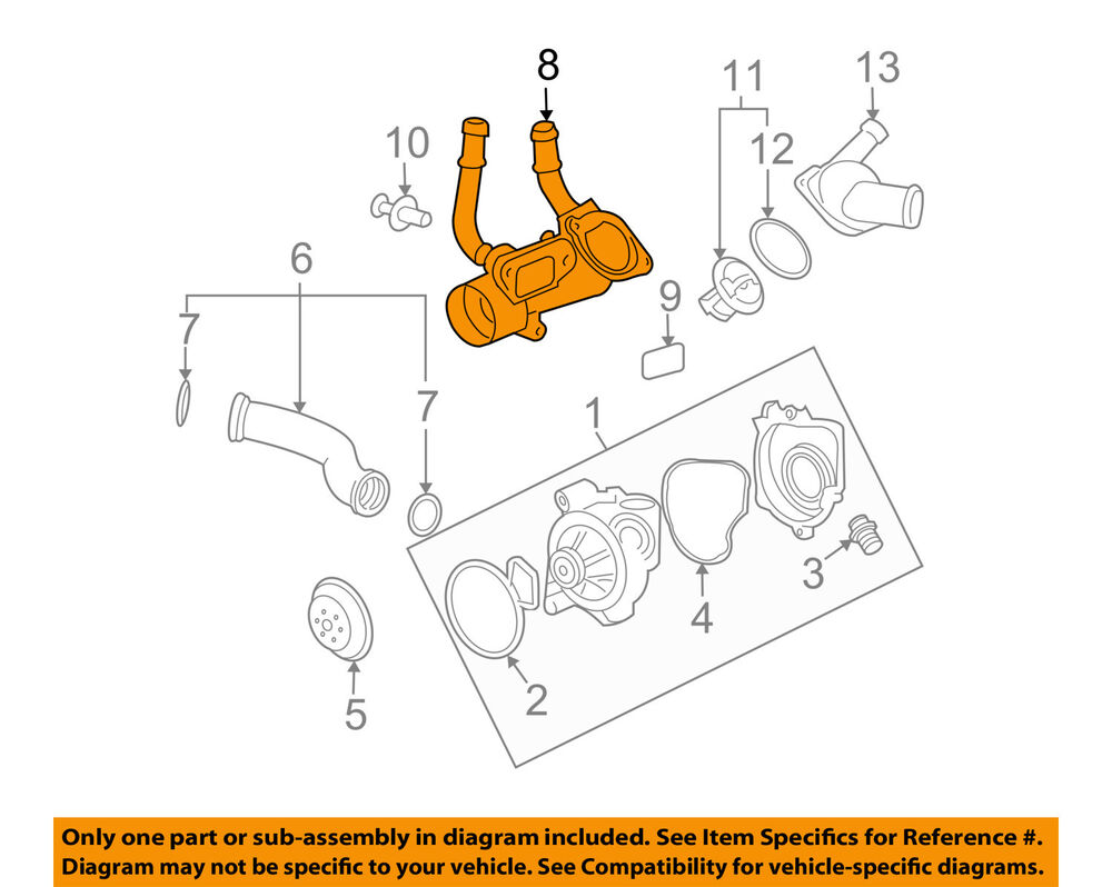 hight resolution of gm oem engine coolant thermostat housing 12597172 ebay