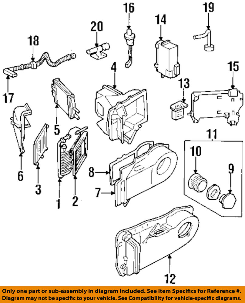 medium resolution of details about gm oem hvac heater core 22784517