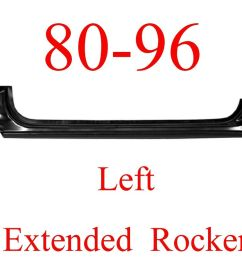 details about 80 96 left ford extended rocker panel truck bronco f150 f250 f350 oem type [ 1000 x 804 Pixel ]