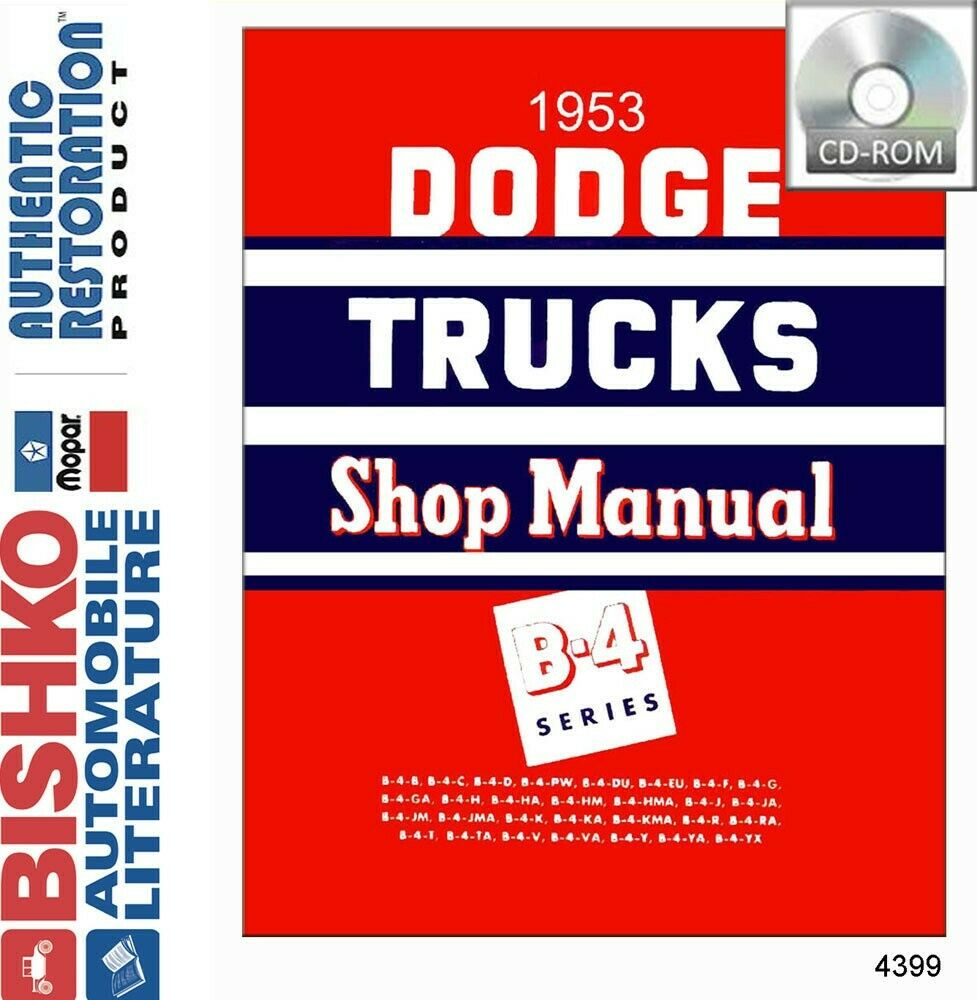 hight resolution of details about 1953 dodge pickup truck shop service repair manual cd engine drivetrain wiring